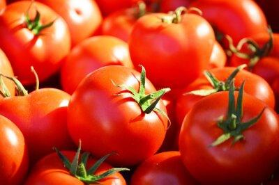 Papiers peints Tomates organiques fraîches sur la stalle de rue