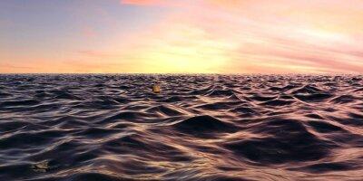 Papiers peints Tôt, lever soleil, panorama, océan, vagues