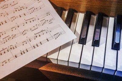 Papiers peints touches de piano et partitions