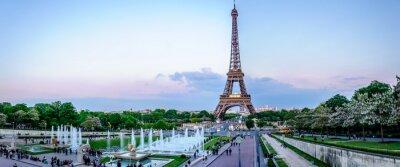 Papiers peints Tour Eiffel au crépuscule