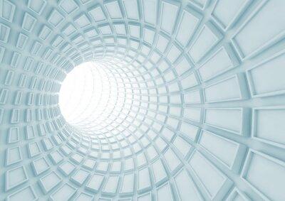 Papiers peints Tournage, bleu, tunnel, intérieur, extrudé, tuiles