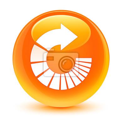 Tourner Licone Fleche Orange Vif Bouton Rond Papier Peint Papiers