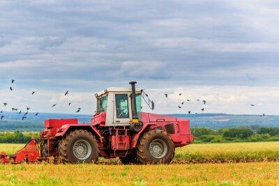 Papiers peints Tracteur, champ