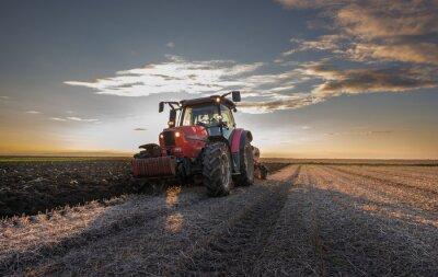 Papiers peints Tracteur labourant