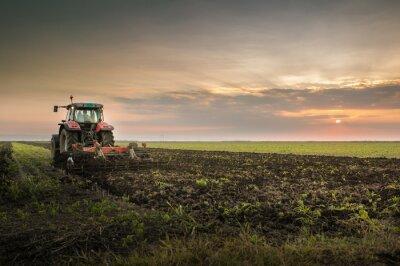Papiers peints Tracteur, labourer, champ