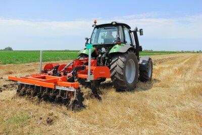 Papiers peints Tracteur sur le terrain