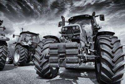 Papiers peints tracteurs et pneus agricoles géantes