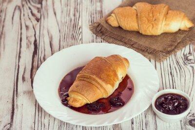 Papiers peints Traditionnel, croissants, confiture, petit déjeuner