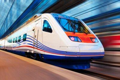 Papiers peints Train à grande vitesse moderne avec motion blur