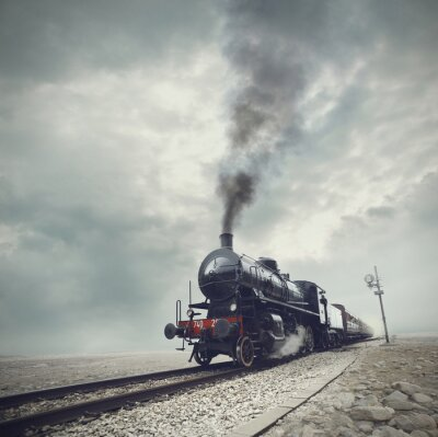Papiers peints train noir