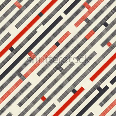 Papiers peints Transparente motif abstrait avec des rayures diagonales sur fond de texture de couleurs rétro. Le motif sans fin peut être utilisé pour les carreaux de céramique, le papier peint, le linoléum, le text