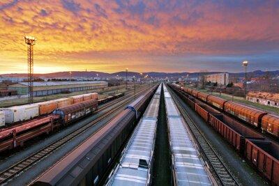 Papiers peints Transport ferroviaire de marchandises - Transport ferroviaire de marchandises