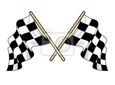 Traversé agitant des drapeaux du sport automobile