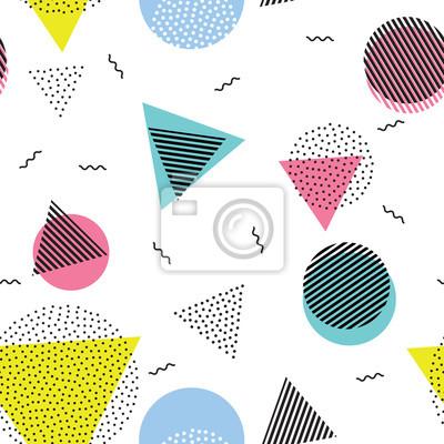 Triangle cercle résumé géométrique vecteur seamless pattern fond fond d'écran