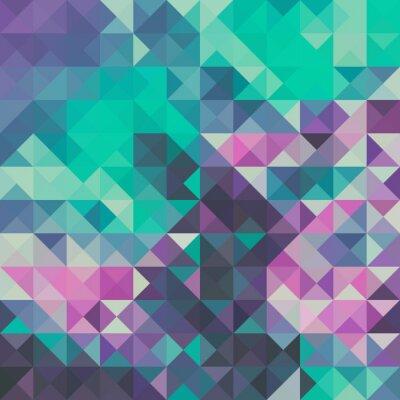 Papiers peints Triangle fond, vert et violet