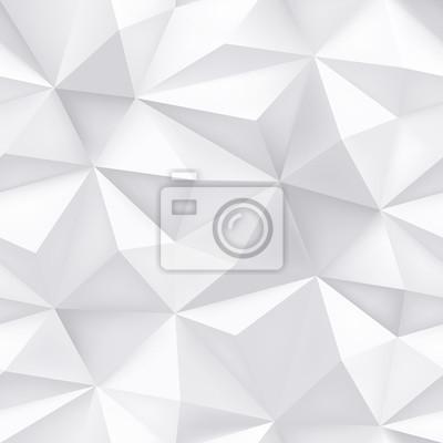 Triangle géométrique papier blanc abstrait sans soudure de fond. Vecteur dégradé minimal de demi-teinte blanche avec texture croustillante graphique simple à la mode