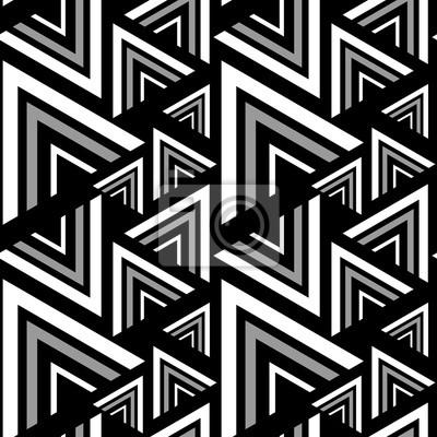 Triangle Noir Motif Blanc Sans Soudure Illustration Vectorielle