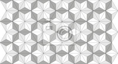 Triangle Square Illusion Doptique En Noir Blanc Et Gris Papier