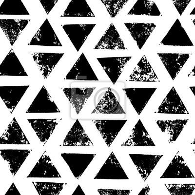 Triangles Noirs Et Blancs Ages De Modele Sans Couture De Grunge