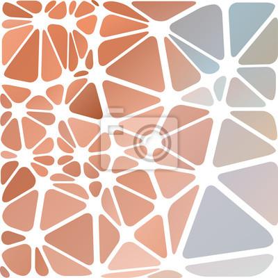 Triangulaire résumé, blanc illustration multicolore bordée, vect