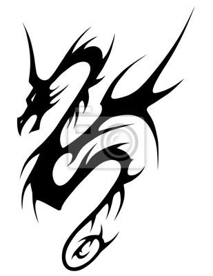 Dragon Tribal Tatouage tribal, tatouage, dragon, vecteur papier peint • papiers peints