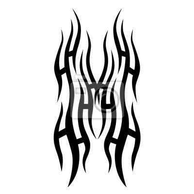 Tribal Tattoo Art Conceptions Esquisse Vecteur Isole Simple Papier