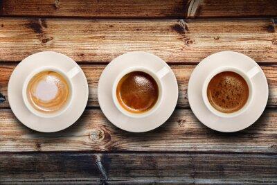 Papiers peints tris di caffè di fondo Legno