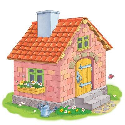 Coloriage Maison Cochon.Trois Petits Cochons Conte De Fee Une Jolie Maison Faite De Papier