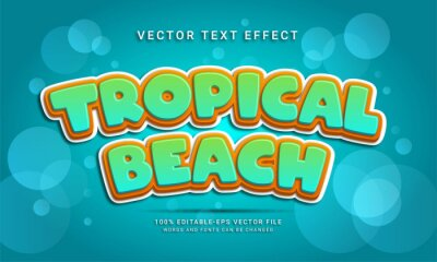 Papiers peints Tropical beach 3d text style effect themed happy summer holiday