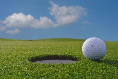 Papiers peints trou de golf et balle
