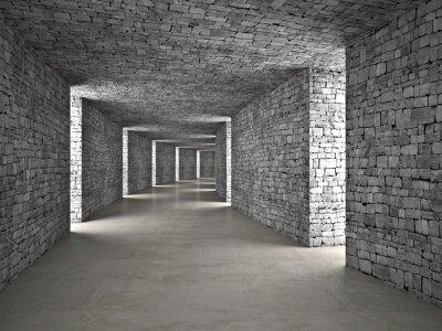 Papiers peints tunnel abstraite