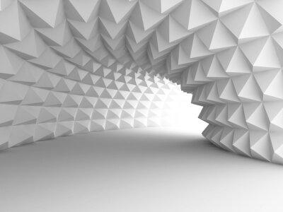 Papiers peints Tunnel architecture abstraite avec le fond Lumière