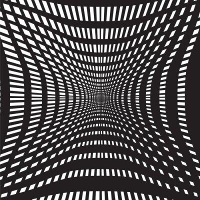 Papiers peints Tunnel noir et blanc fond abstrait