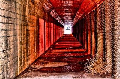 Papiers peints Tunnel rouge