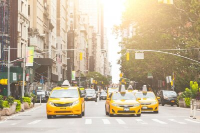 Papiers peints Typical yellow taxi in New York city