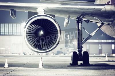 Papiers peints Un détail d'une turbine d'avion