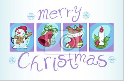 un ensemble d'images de Noël colorées 2