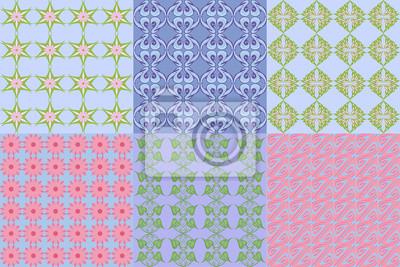 un ensemble de motifs géométriques abstraits floraux