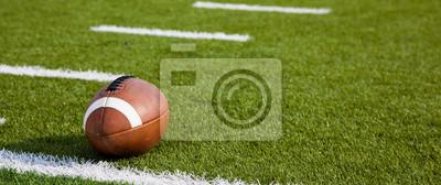 Papiers peints Un football américain sur le terrain