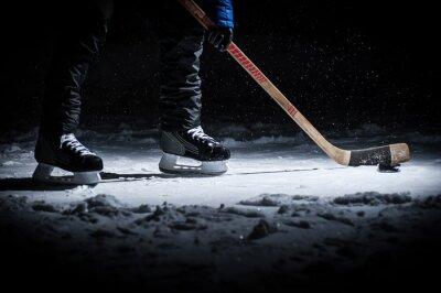 Papiers peints Un joueur de hockey. Voir seulement Legs
