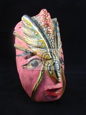 Un masque en bois à partir de Oaxaca au Mexique