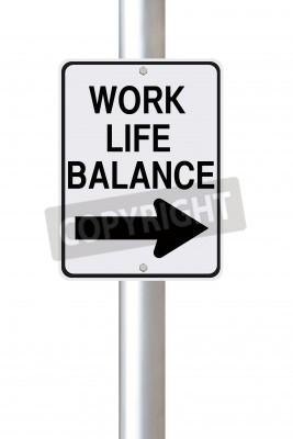 Un signe d'une façon modifiée sur l'équilibre travail-vie