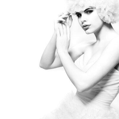 Papiers peints Une belle fille sexuelle est dans une robe de mariée, mariage decoratio