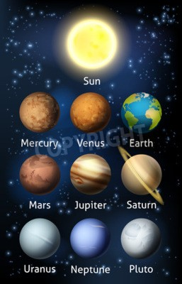 Papiers peints Une illustration des planètes du système solaire