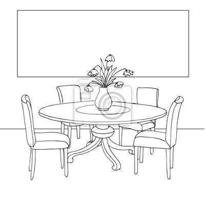 Exceptionnel Papiers Peints Une Partie De La Salle à Manger. Table Et Chaises.Sur Le