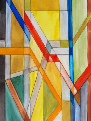 Papiers peints une peinture à l'aquarelle abstraite