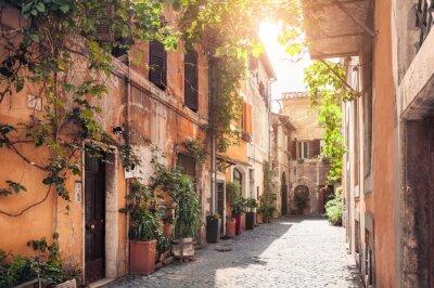 Papiers peints Une rue pittoresque à Rome, en Italie