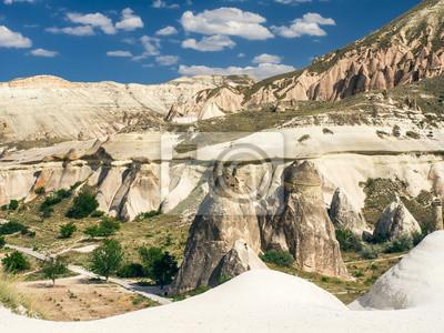 Une vallée en Cappadoce, Turquie Cental