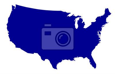 Papiers peints USA Map Silhouette