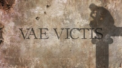 Papiers peints Vae Victis. Phrase latine pour Malheur aux vaincus